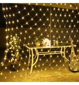 Novogodišnja LED svetleća mreža toplo bela 2m za spoljašnju i unutrašnju upotrebu