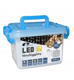 Novogodišnja LED svetleća zavesa sa providnim kablom toplo bela 1,5x1,5m spoljašnju i unutrašnju upotrebu