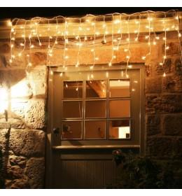 Novogodišnja LED svetleća zavesa toplo bela 3m za spoljašnju i unutrašnju upotrebu
