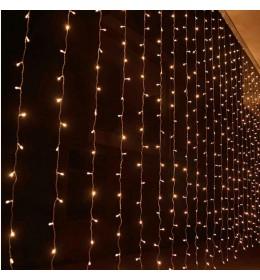 Novogodišnja LED zavesa 2x1m toplo bela