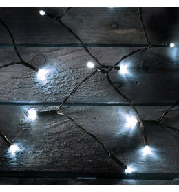 Novogodišnja LED zavesa hladno bela 1,5x1,5m za spoljašnju i unutrašnju upotrebu
