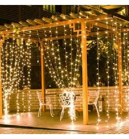Novogodišnja rasveta LED kontakt svetleća mreža 2x1m toplo bela