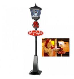 Novogodišnja ulična snežna lampa 180cm crna