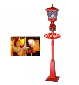 Novogodišnja ulična snežna lampa 180cm crvena