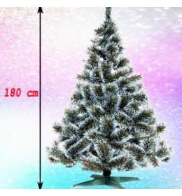 Gusta novogodišnja jelka Bor sa belim vrhovima 180 cm