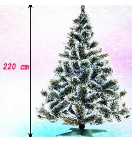 Gusta novogodišnja jelka Bor sa belim vrhovima 220 cm