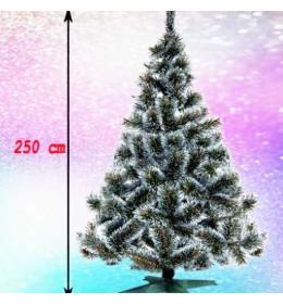 Gusta novogodišnja jelka Bor sa belim vrhovima 250 cm