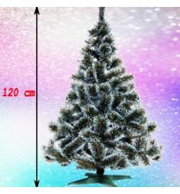 Gusta novogodišnja jelka Bor sa belim vrhovima 120 cm