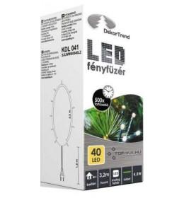 Novogodišnje toplo bele LED lampice 40 sijalica
