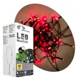 Novogodišnje crvene LED lampice 40 sijalica