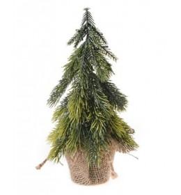 Novogodišnje jelke u saksiji miks 23cm Deco wood