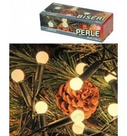 Novogodišnje lampice Pearl 35 komada bele