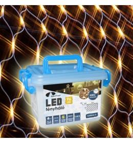 Novogodišnja LED svetleća  providna mreža toplo bela 2m za spoljašnju i unutrašnju upotrebu