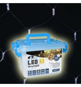 Novogodišnja LED svetleća providna mreža hladno bela 2m za spoljašnju i unutrašnju upotrebu
