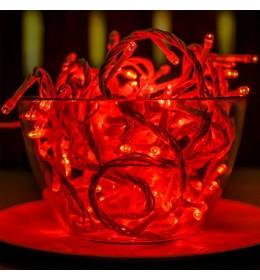 Novogodišnje LED lampice crvene 6m za spoljašnju i unutrašnju upotrebu