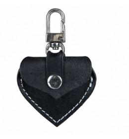 Ogrilca adresar Trixie Heart kožni crni