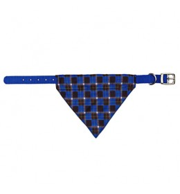 Ogrlica za psa sa maramom plava 30-38cm