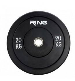 Olimpijski tegovi bumper-crni 1x20kg RX PL37-20