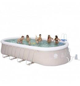 Ovalni bazen sa metalnim šipkama 600x360x122 cm