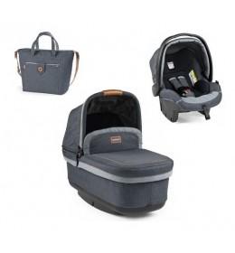 Set nosiljka, autosedište i torba Modular Pop Up Blue Denim