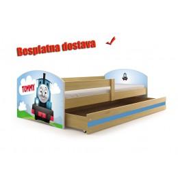 Dečiji krevet Lookie Pine 160x80 cm sa dušekom dezen 10
