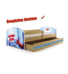 Dečiji krevet Lookie Pine 160x80 cm sa dušekom dezen 09