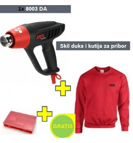 Pištolj za vreli vazduh Skil 8003DA + Skil duks i kutija za pribor