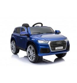Dečiji automobil na akumulator Audi Q5 2019 sa kožnim sedištem i mekim gumama plavi