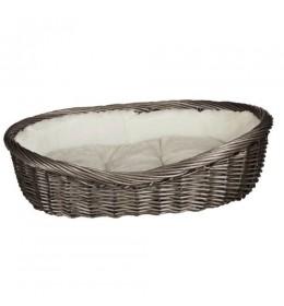 Pleteni Krevet Sivi 80cm