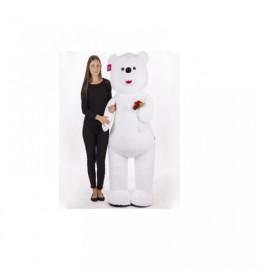 Plišani beli medved sa ružama 160cm