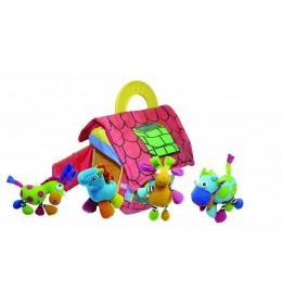 Plišana igračka kućica + 4 životinje Biba Toys