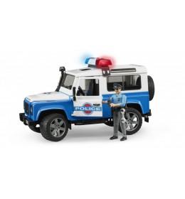Policijski džip Land Rover Defender sa figurom BRUDER