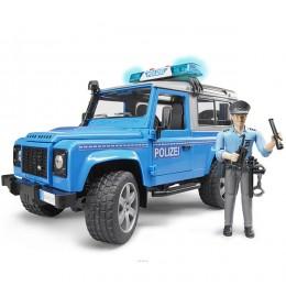 Policijski džip Land Rover Defender sa figurom Bruder 025977
