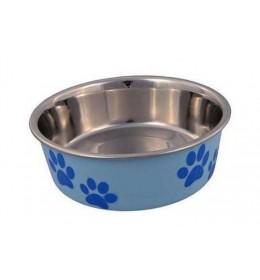Posuda za psa Šapice 14 cm Plava