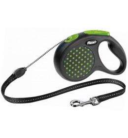 Povodac za pse Flexi S 5m zelena
