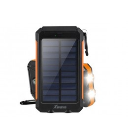 Power Bank 8000mAh Xwavw Camp L 80 black-orange solarni punjač i LED svetlo 023305