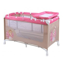 Prenosivi krevetac Baby nanny 2 nivoa Beige&Rose Princess
