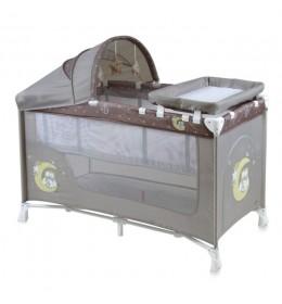 Prenosivi krevetac Baby Nanny 2 nivoa Plus Beige Buho