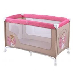 Prenosivi krevetac Nanny 1 nivo Beige & Rose princess