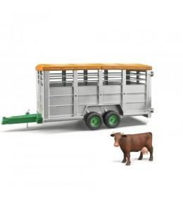 Prikolica za prevoz stoke sa figurom Bruder 022273