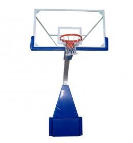 Sklapajuća profesionalna košarkaška konstrukcija sa staklenom tablom 1800x1050