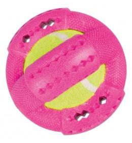 Prsten sa tenis lopticom roza