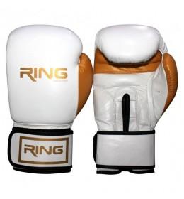 Rukavice za boks 10 OZ kožne bele