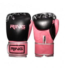 Rukavice za boks 10 OZ kožne pink