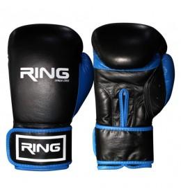 Rukavice za boks 12 OZ kožne plavi