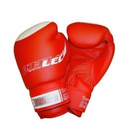 Rukavice za boks od prirodne kože Premium PRO 10 OZ crvene