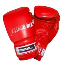 Rukavice za boks od prirodne kože Premium PRO 12 OZ crvene