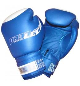 Rukavice za boks od prirodne kože PRO 10 OZ plave