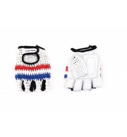 Rukavice za teretanu retro crochet bela