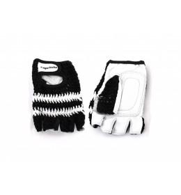 Rukavice za teretanu retro crochet crne XL